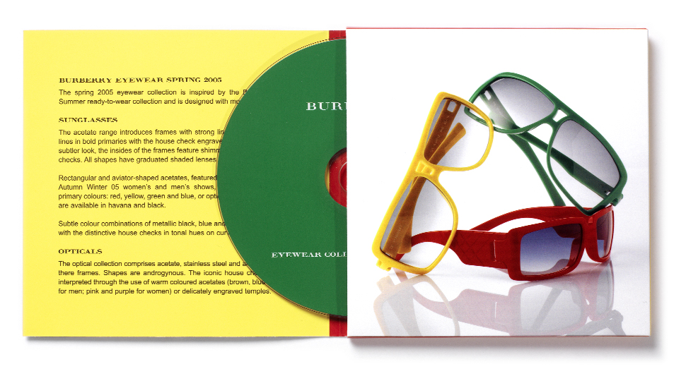Burberry sunglasses press kit inside