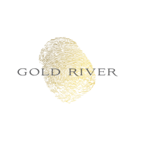 Gold River logo gold + grey layered